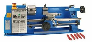 Erie Tools 7 X 14 Precision Bench Top Mini Metal Milling Lathe Variable Speed