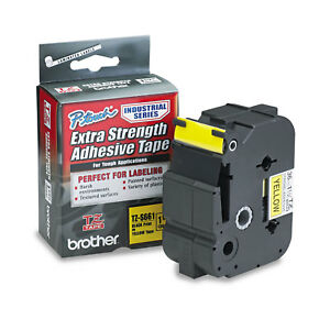 Brother P touch Tz Extra strength Adhesive Laminated Labeling Tape 1 1 2w Black