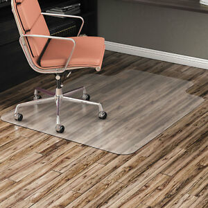 Alera Non studded Chair Mat For Hard Floor 45 X 53 With Lip Clear Mat4553hfl