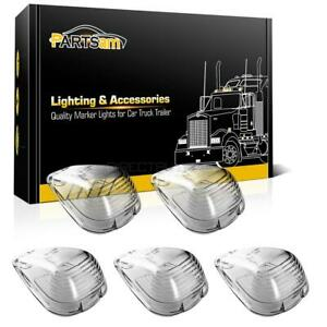 5 Clear Roof Cab Marker Clearance Light Lens For Ford E F 350 E F 450 Super Duty