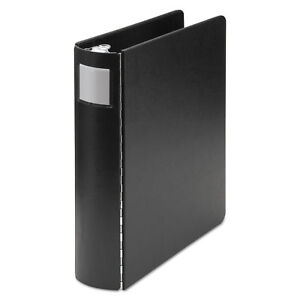 Wilson Jones Casebound Round Ring Binder 2 Cap 8 1 2 X 14 Black 34448l