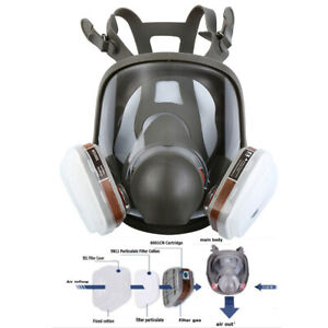 15 In 1 Facepiece Full Face Respirator 6800 Painting Spraying Dust Gas Mask