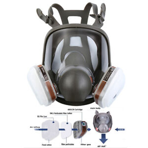 15 In 1 Facepiece Full Face Respirator 6800 Gas Mask For Painting Spraying