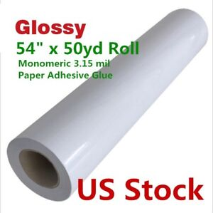 Us Stock 54 x50 Yard Glossy Monomeric 3 15 Mil Cold Laminating laminator Film