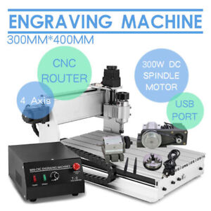 Top Engraving Cutter 4 Axis 3040 T screw Desktop Usb Cnc Router Engraver Cutting