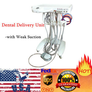 Us Dental Delivery Unit Mobile Cart Standard Version Portable 4 hole Handpiece
