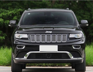 Chrome Front Grill Mesh Grille Cover Inserts For 2014 2016 Jeep Grand Cherokee