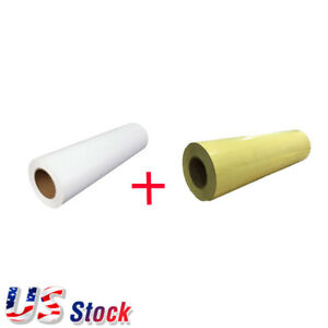 19 7 x5 Yard Eco solvent Printable Heat Transfer Vinyl White application Tape