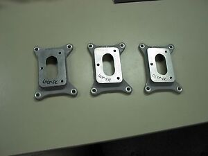 Nos Offenhauser Offy Large 4 Bolt To 3 Bolt Carb Adaptors Holley 94 Tripower