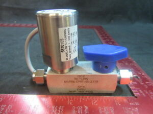 Applied Materials amat 0190 36181 Valve Assy w flow Monitor Fast Cool Down