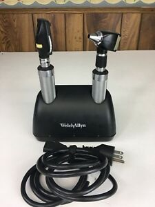 Welch Allyn 71140 Desk Charger Opthalmoscope Otoscope Medical Scope Kit 7114