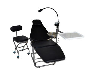 Portable Foldable Dental Chair exam Led Lamp Light Nylon Bags Doctor s Chair