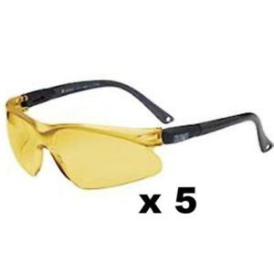 Maxisafe Colorado Safety Glasses As nzs1337 Anti Scratch Fog Coating Amber X 5