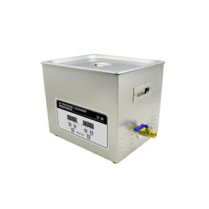 Glf 220v Stainless Steel Ultrasonic Cleaner 10l Digital Timer Heated Cleaning