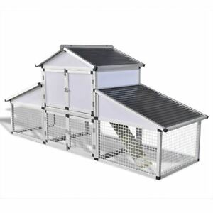 Vidaxl Hen House Chicken Coop With Run Poultry Ducks Hutch Home Eggs Nesting Box