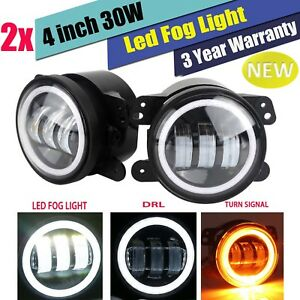 2x 4 Inch Cree Led Fog Light 30w For Jeep Wrangler Front Bumper Tractor 0547941