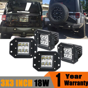 Jeep Ford Truck 4x 18w Spot Beam Led Work Light Offroad Driving Reverse Lamps 3