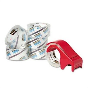 3850 Heavy duty Packaging Tape 1 88 X 54 6yds Clear 6 pack 2 Pack