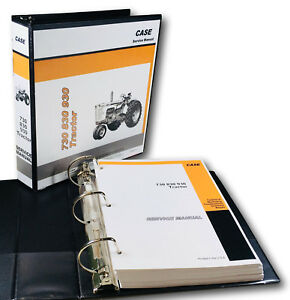 Case 730 731 732 733 734 Draft o matic Tractor Service Manual Shop Book overhaul