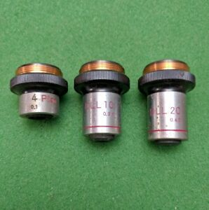 Nikon Microscope Objectives Plan 4x 0 1 Dll Phase Contrast 10x 0 30