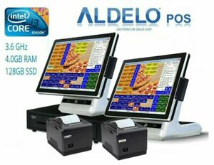 Aldelo Complete Pos Pro Pizza Computer System Dual Core I3 3 6ghz All New