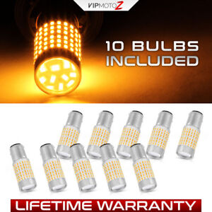 high power 10 piece 1157 2357 Orange Amber Led Bulb For Front Turn Signal Lamp