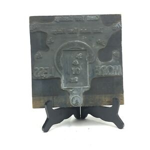 Antique Advertising Letterpress Printing Printers Block Count Your Blessings