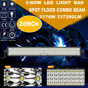Cree 20inch 2176w 5 Row Led Work Light Bar Spot Flood Suv Atv Ute Cab Offroad 22