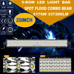 2176w Cree 20inch Led Work Light Bar 5 Row Spot Flood Combo Offroad 4wd Truck 18