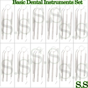 45 Instruments Basic Dental Set Mirror Explorer College Plier Good Quality New
