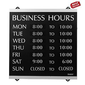 Business Hours Sign Shop Market Custom Open Close Store Time Display Board Signs
