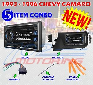1993 1996 Chevy Camaro Double Din Car Stereo Dash Installation Kit Vcd 22b Bt