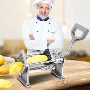 Potato French Fry Cutter Fruit Vegetable Slicer With 4 Blades Stainless Steel