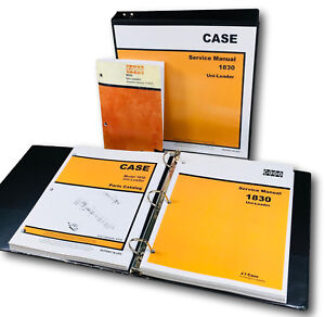Case 1830 Uni Loader Skid Steer Service Parts Operators Manual Master Shop Set