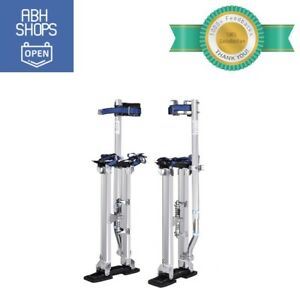Aluminum Drywall Stilts Tool 18 30 Inch Adjustable Large Load Capacity W Straps