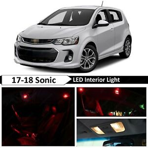 Red Interior Map License Plate Led Light Package Kit Fit 2017 2018 Chevy Sonic