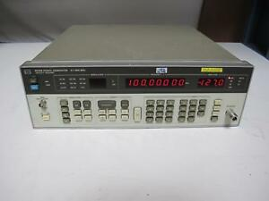 Agilent Hp 8656b Synthesized Signal Generator 0 1 To 990 Mhz Opt 001