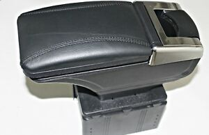 1 X Universal Armrest Console Car Van Bus Cars Black Leather Boxed New