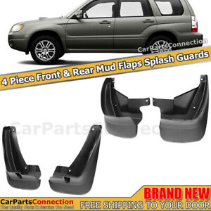 Front Rear Mud Flaps Splash Guards For 2003 2008 Subaru Forester Mudguards