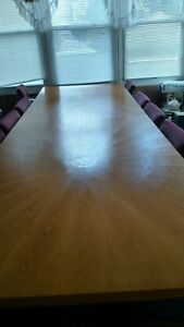 Conference Table Custom Made Wood With Chairs