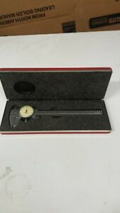 L s Starrett Tool No 120 Hardened Stainless Steel 0 6 Dial Caliper Case Usa