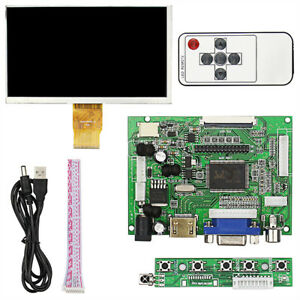 Tft Screen Inch 7 Lcd For Raspberry Fit Vga 2 3 Monitor Pi Drive Hdmi Module