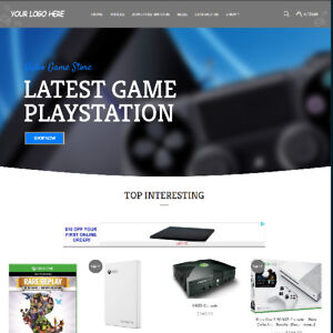 Video Game Affiliate Online Business Website For Sale Mobile Friendly Added