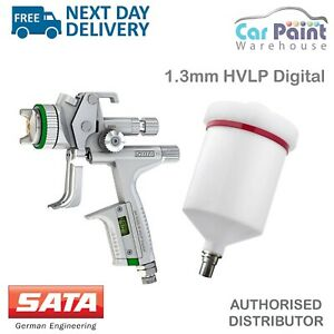 Satajet 5000 B Hvlp Digital 1 3mm Gravity Feed Spray Gun Base Coat Paint Sata
