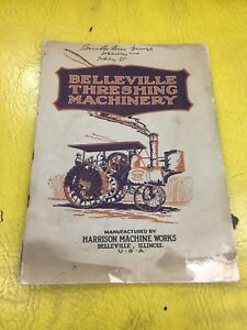 Belleville Steam Traction Engine Threshing Sales Catalog Old