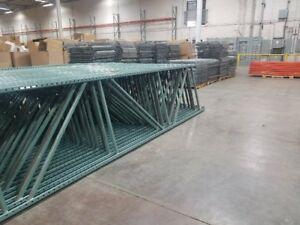 Used Teardrop Pallet Rack 18 X 42 Upright Frame