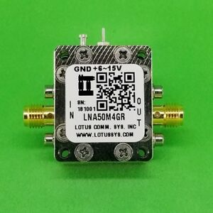 Broadband Low Noise Amplifier 0 8db Nf 50mhz To 4ghz 18db Gain With Ldo
