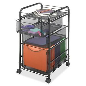 File Cart Cabinet Storage Drawers Letter Size Document Office Furniture Mesh Set