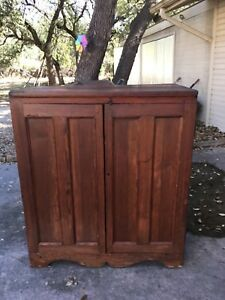 Antique Southern Yellow Pine Jelly Cupboard