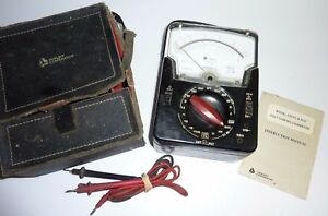 Vintage Triplett 630 Pl Type 5 Milliammeter Tested W Instruction Manual Case